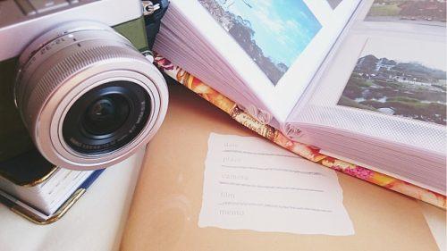 カメラとアルバムの画像