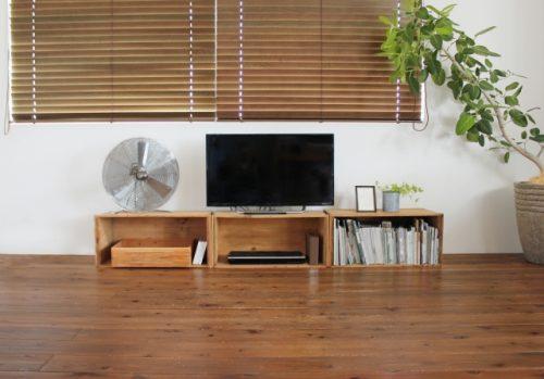 テレビボードの収納の画像