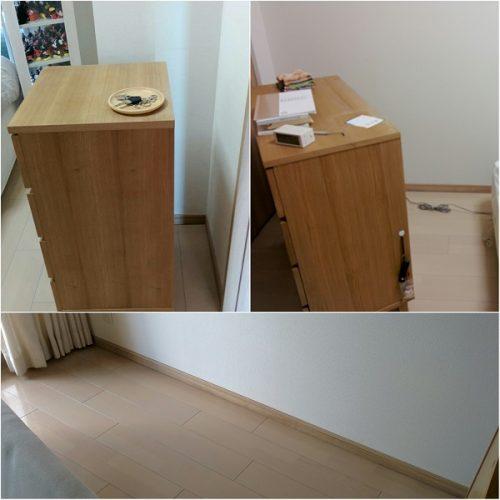 掃除のために動かした家具の画像