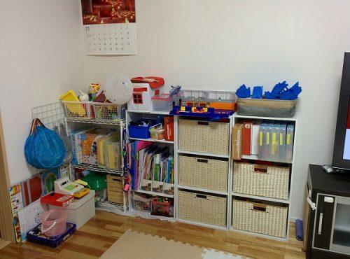 おもちゃコーナーの整理収納後の画像