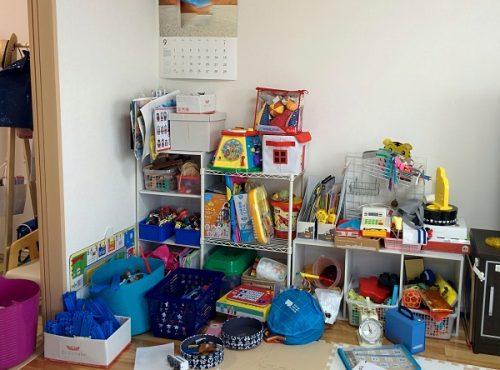 おもちゃコーナーの整理収納前の画像