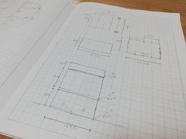 押入れの平面図と立面図