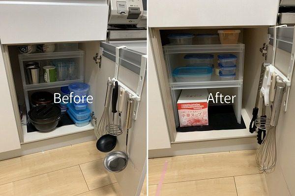 キッチンの整理収納ビフォーアフター画像